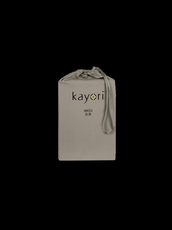 Kayori Shizu Topper hoeslaken Perkal - Taupe