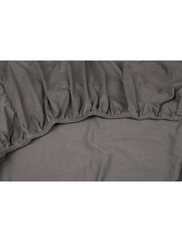 Kayori Shizu - Split Topper hoeslaken stretch - Jersey - Antracite
