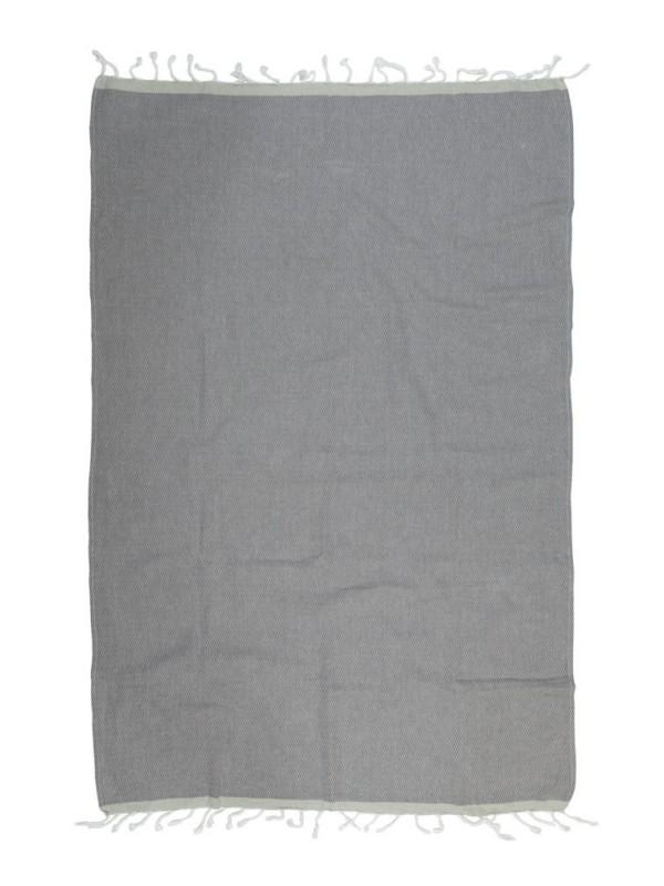 Kayori - Izu - Hamamdoek - 100x180 - Antracite/Zilvergrijs