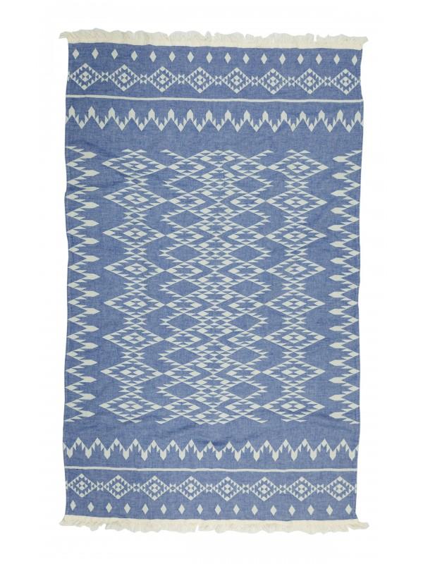 Kayori - Kiku - Hamamdoek - 100x180 - Donkerblauw