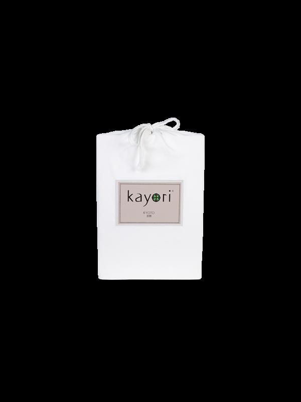 Kayori Kyoto -Splittopper Hoeslaken - Jersey - Wit