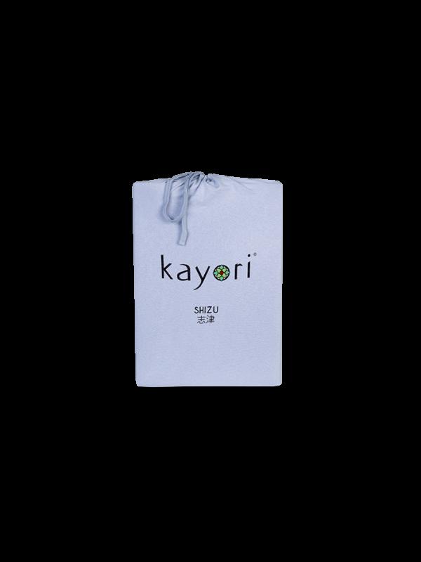 Kayori Shizu Topper hoeslaken stretch - Jersey - Blauw