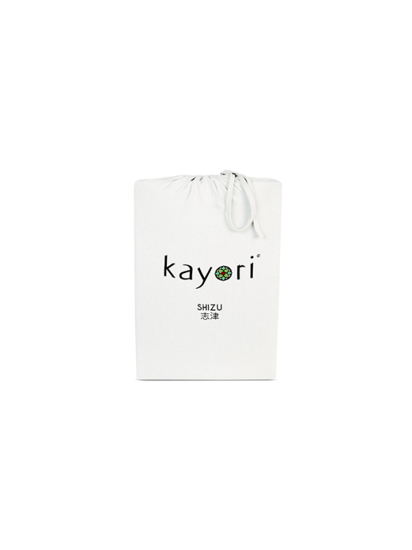 Kayori Shizu Split Topper hoeslaken stretch - Jersey - Offwhite