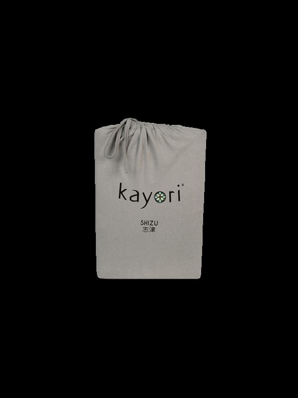 Kayori Shizu Split Topper hoeslaken stretch - Jersey - Taupe