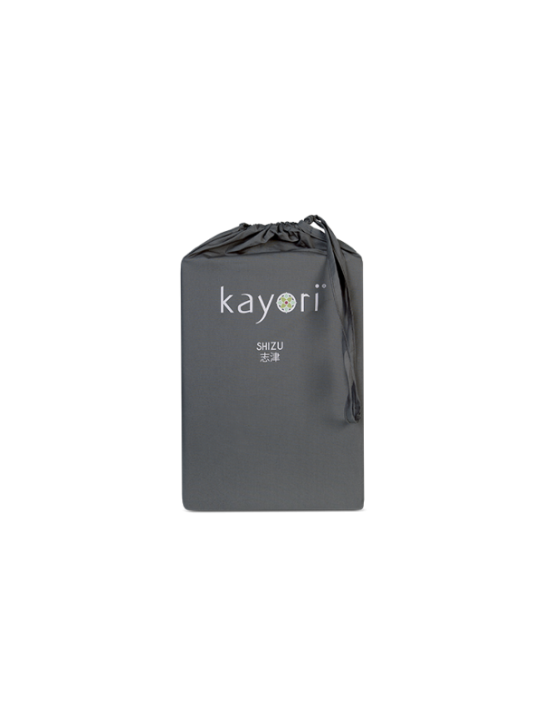 Kayori Shizu - Dubbele Split topper hoeslaken - Perkal - Antracite