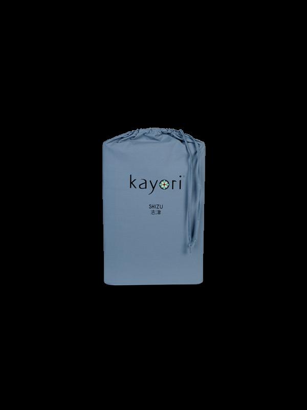 Kayori Shizu Split Topper hoeslaken Perkal - Blauw