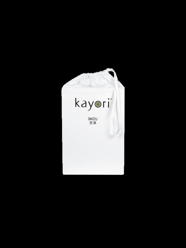 Kayori Shizu - Dubbele Split topper hoeslaken - Perkal - Wit