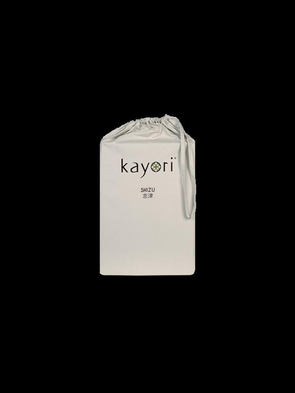 Kayori Shizu - Dubbele Split topper hoeslaken - Perkal - Zand