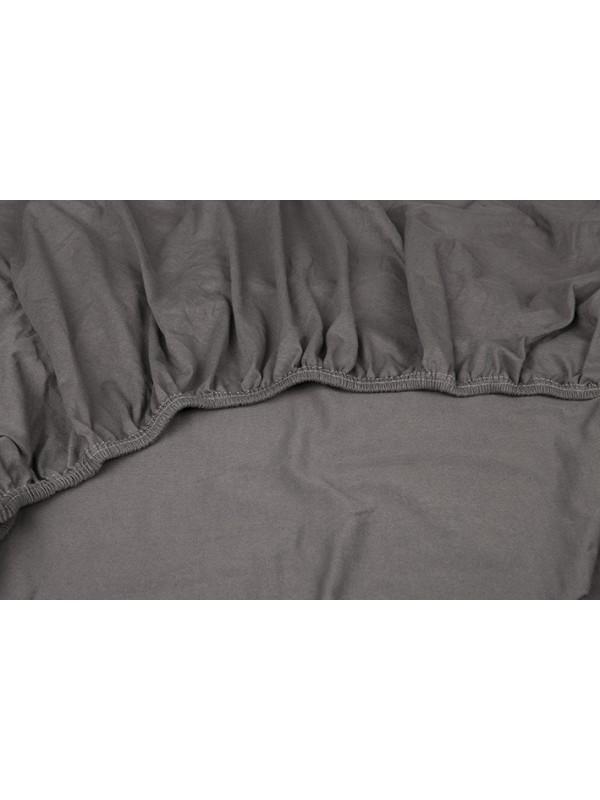Kayori Shizu Split Topper hoeslaken stretch - Jersey - Antracite