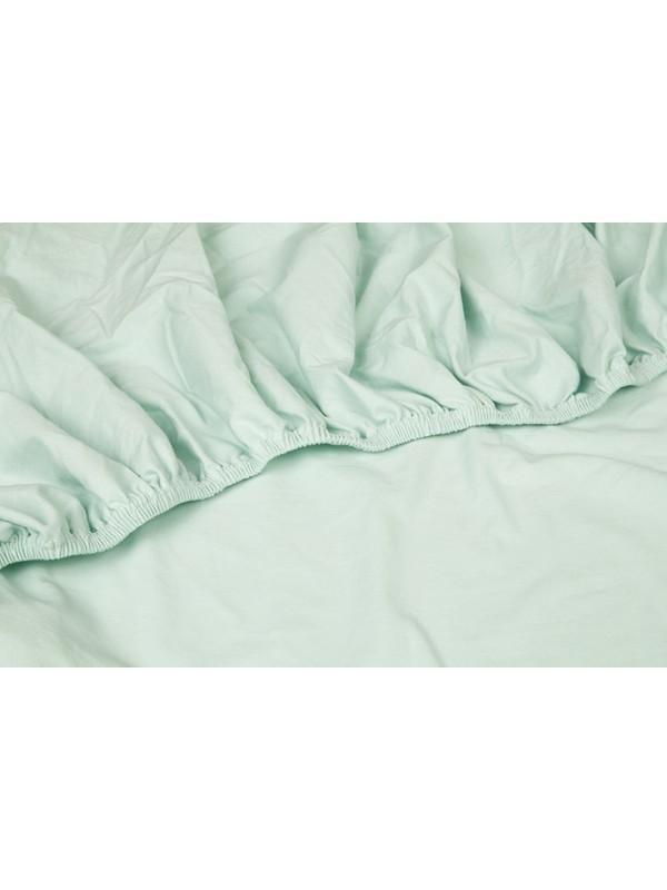 Kayori Shizu - Hoeslaken stretch - Jersey - 40cm Hoek - Mintgroen
