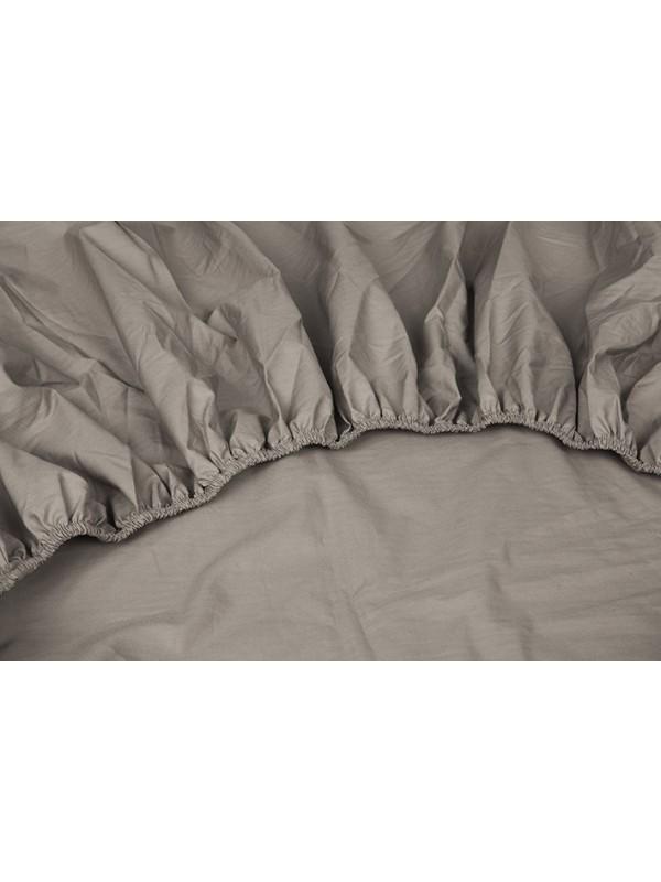 Kayori Shizu - Split Topper hoeslaken - Perkal - Taupe