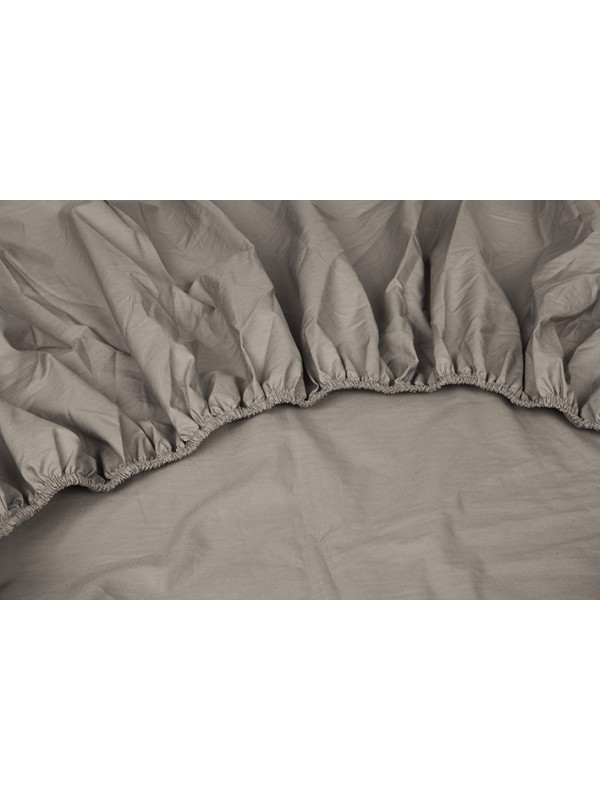 Kayori Shizu - Dubbele Split topper hoeslaken - Perkal - Taupe