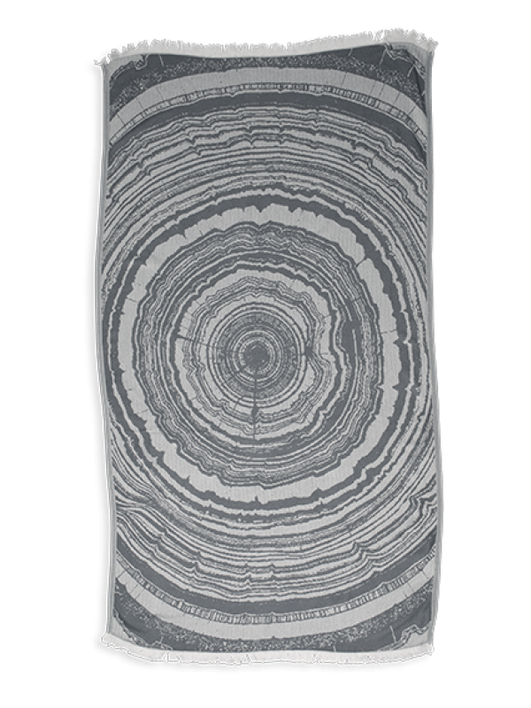 Kayori - Nobu - Hamamdoek - 100x180 - Bamboe - Antracite