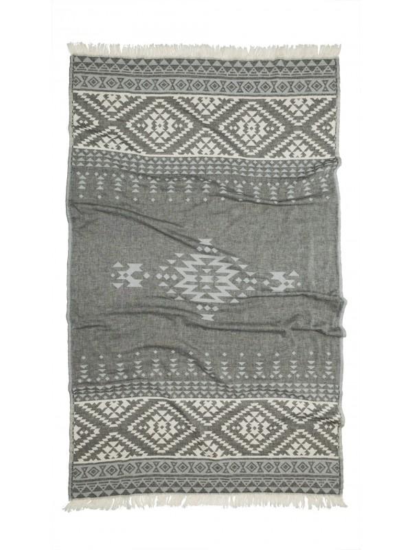 Kayori - Tori - Hamamdoek - 100x180 - Antracite