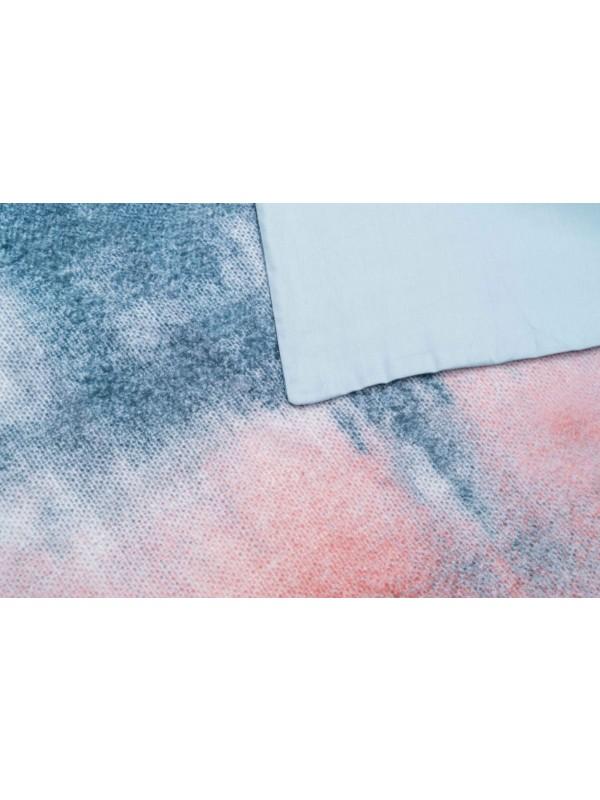 Kayori Akune - Dekbedovertrek - Katoensatijn - Rood/Blauw