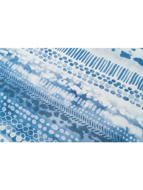 Kayori Dashi - DBO - Katoensatijn - Blauw