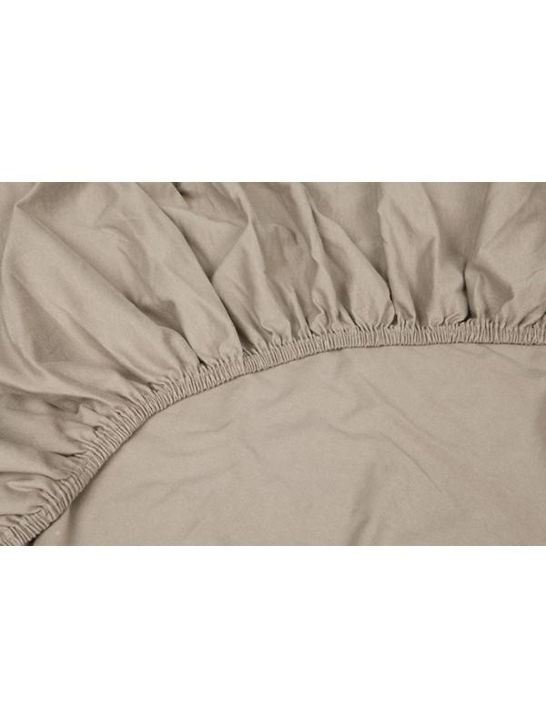 Kayori Shizu Hoeslaken stretch - Jersey - 40cm Hoek - Zand