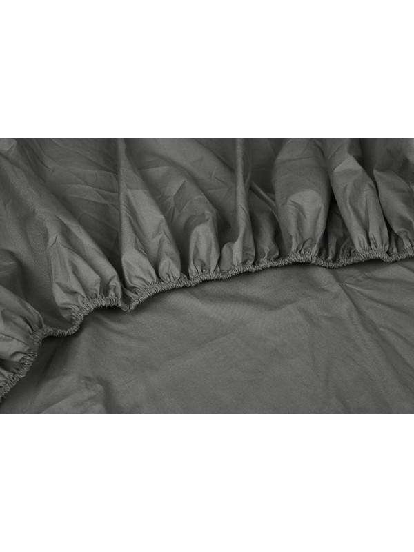 Kayori Shizu Hoeslaken Perkal - 40cm Hoek - Antracite