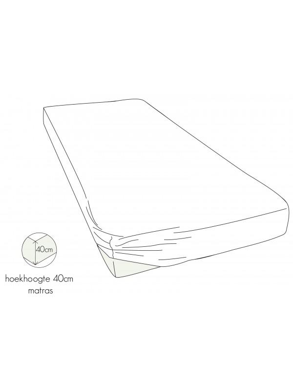 Kayori Shizu - Hoeslaken stretch - Jersey - 40cm Hoek - Wit
