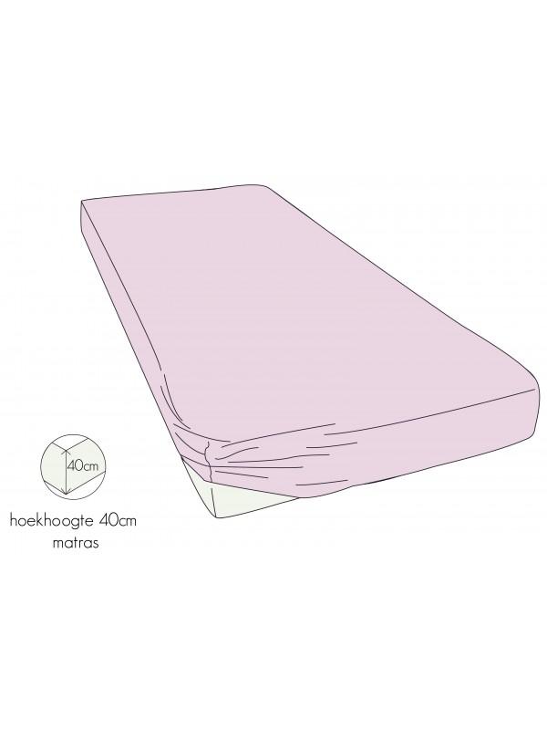 Kayori Shizu - Hoeslaken stretch - Jersey - 40cm Hoek - Roze