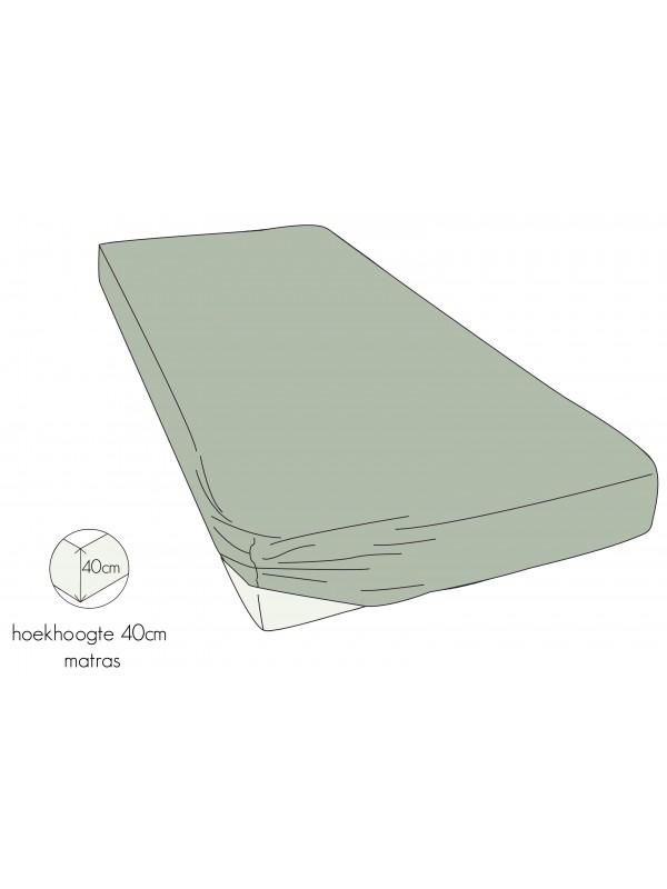 Kayori Shizu - Hoeslaken stretch - Jersey - 40cm Hoek - Zand
