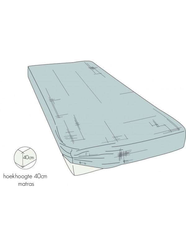 Kayori Nikko - Hoeslaken - 40cm Hoek - Linnen - Zilvergrijs