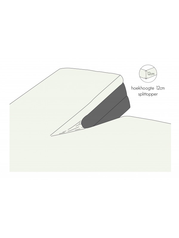 Kayori Shizu - Split Topper hoeslaken - Perkal - Offwhite