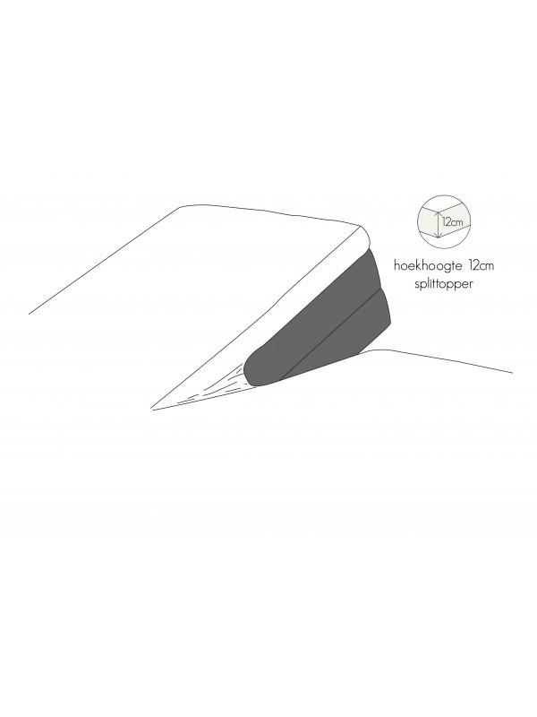 Kayori Shizu - Split Topper hoeslaken - Perkal - Wit