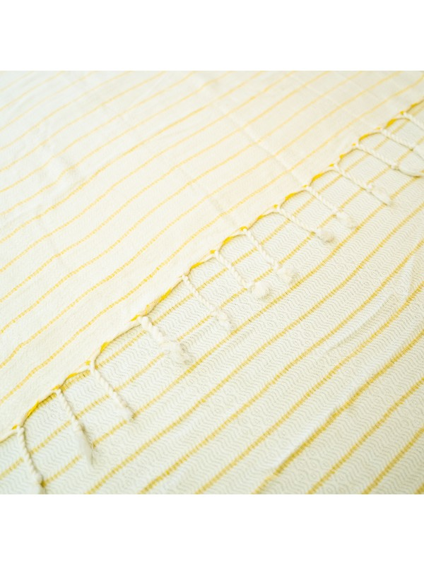 Kayori - Taki - Hamamdoek - 100x180 - Bamboe - Geel