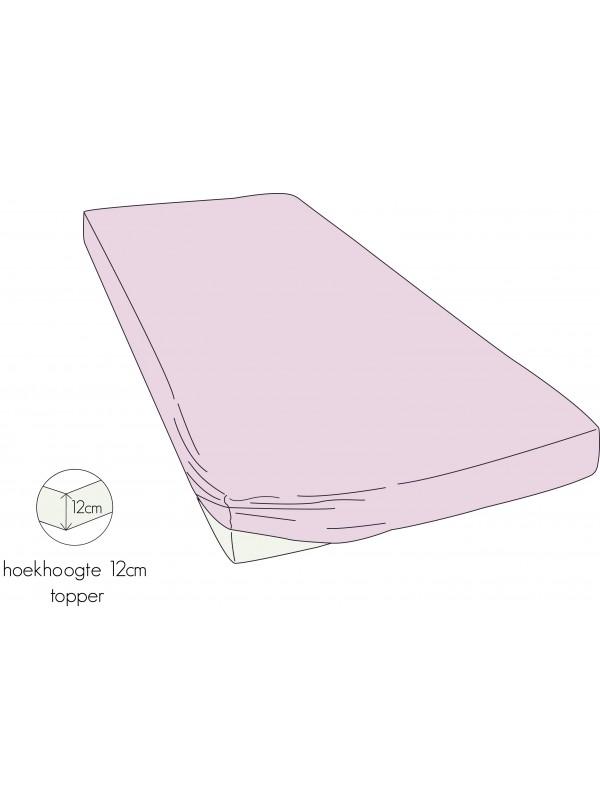 Kayori Shizu - Topper hoeslaken stretch - Jersey - Roze