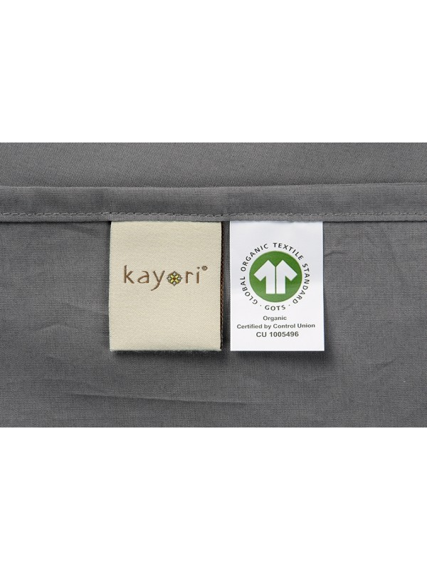 Kayori Shizu-Kussensloop-60x70-2Stuks-Kat perkal-Antracite