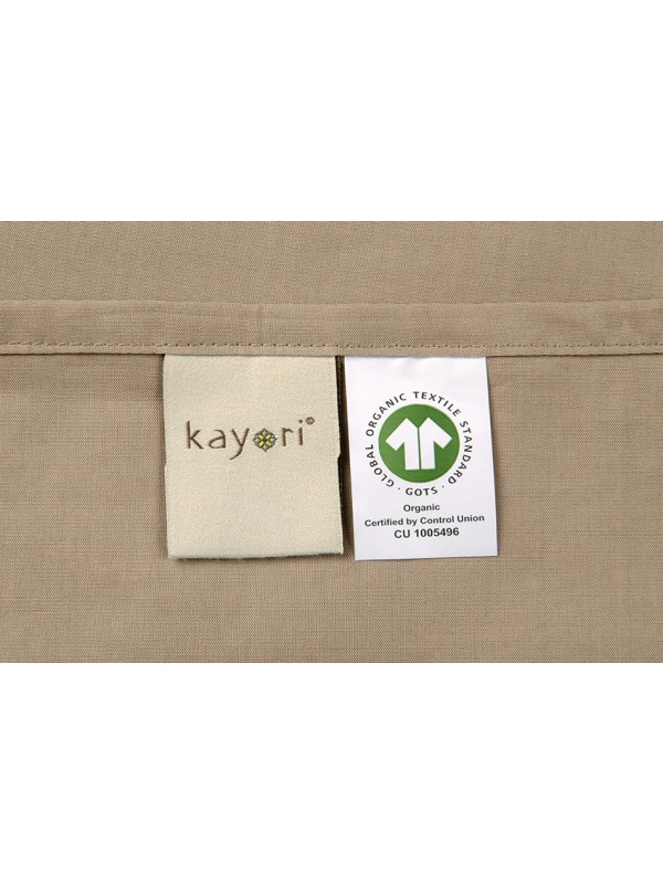 Kayori Shizu - Kussensloop -60x70-2 Stuks-Katoenperkal-Taupe